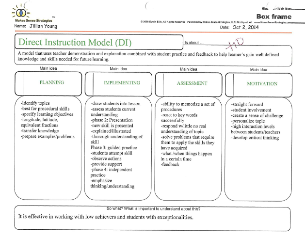 direct instruction lesson plan example